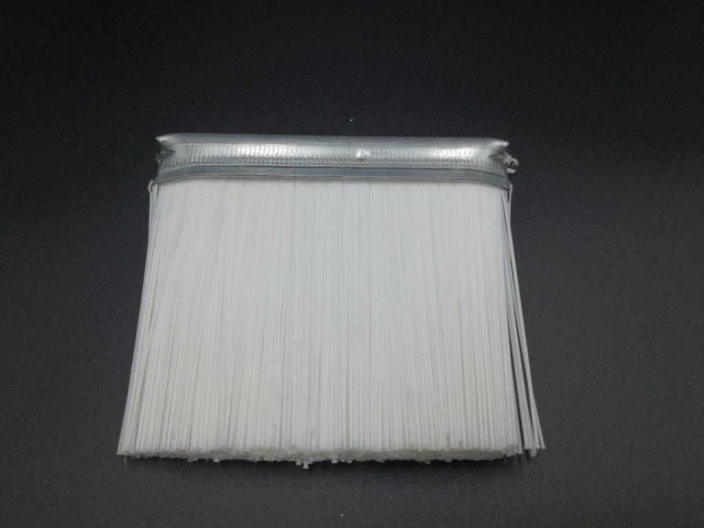 cepillo strip técnico industrial tira burlete con fibra sintética poliamida blanca