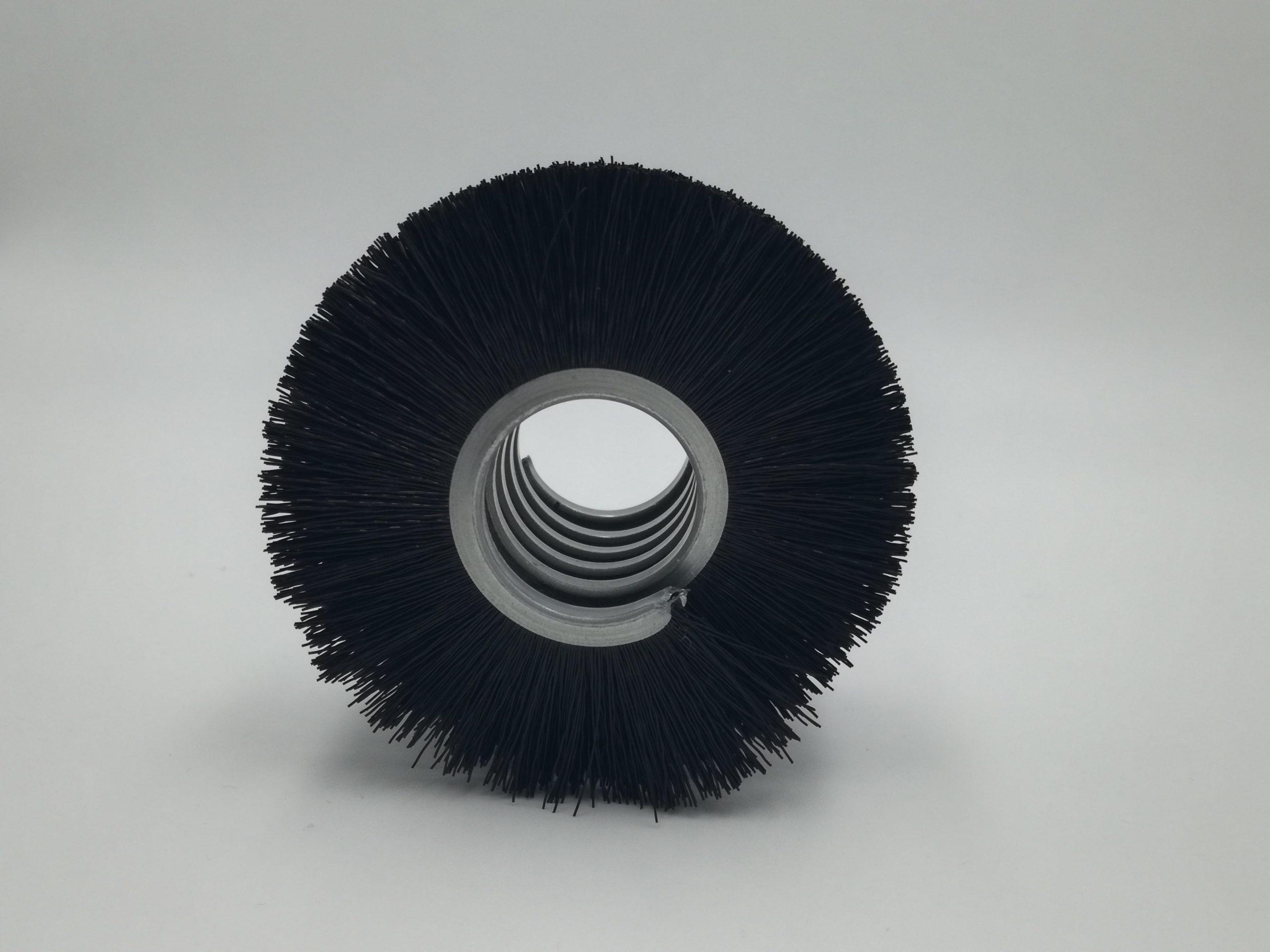 cepillo strip en espiral metálica fibra sintética