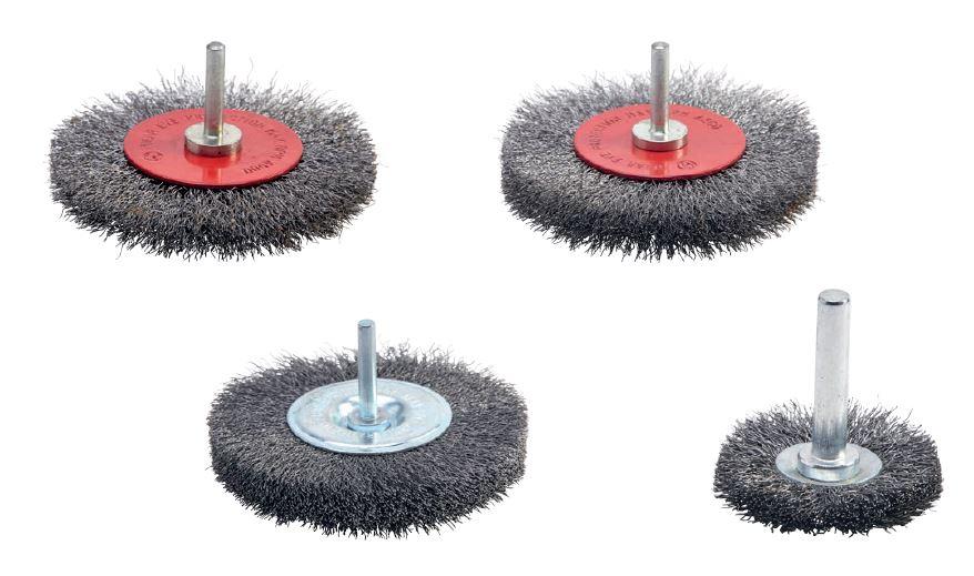 cepillo circular acero con eje