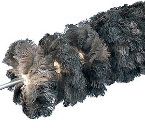 Cepillo cilíndrico antiestático pluma avestruz