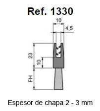Cepillo Strip Flexible Pinza Recta