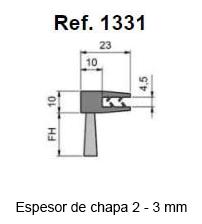 Cepillo Strip Flexible Pinza En F