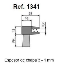 Cepillo Strip Flexible Pinza En «F»