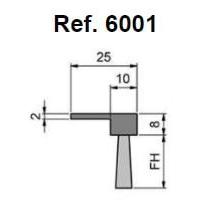 """Cepillo Strip Flexible En Forma De """"f"""""""