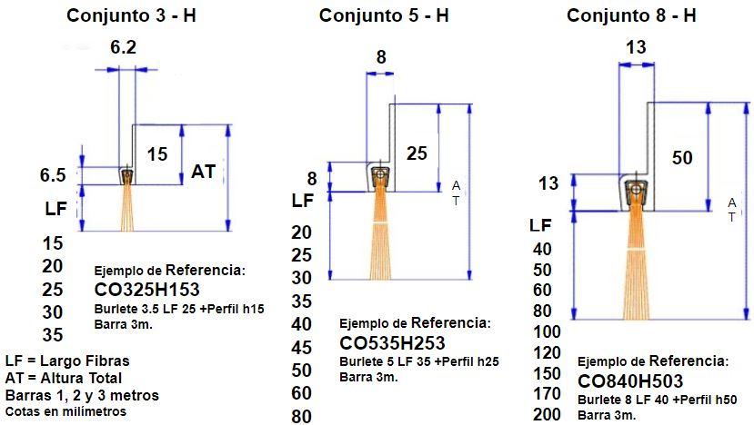 Conjunto cepillo strip h5