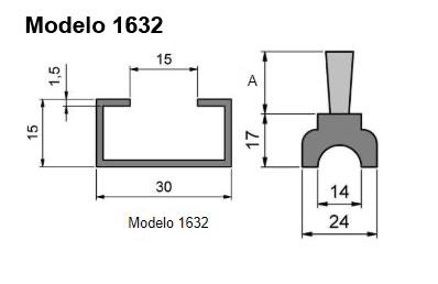 cepillo listón con guía modelo 1632