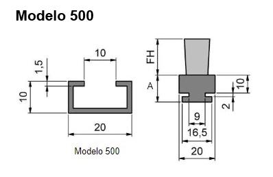 cepillo listón con guía modelo 500