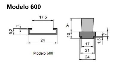 cepillo listón con guía modelo 600