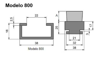 cepillo listón con guía modelo 800