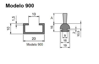 cepillo listón con guía modelo 900