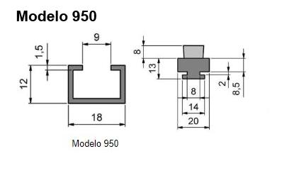 cepillo listón con guía modelo 950