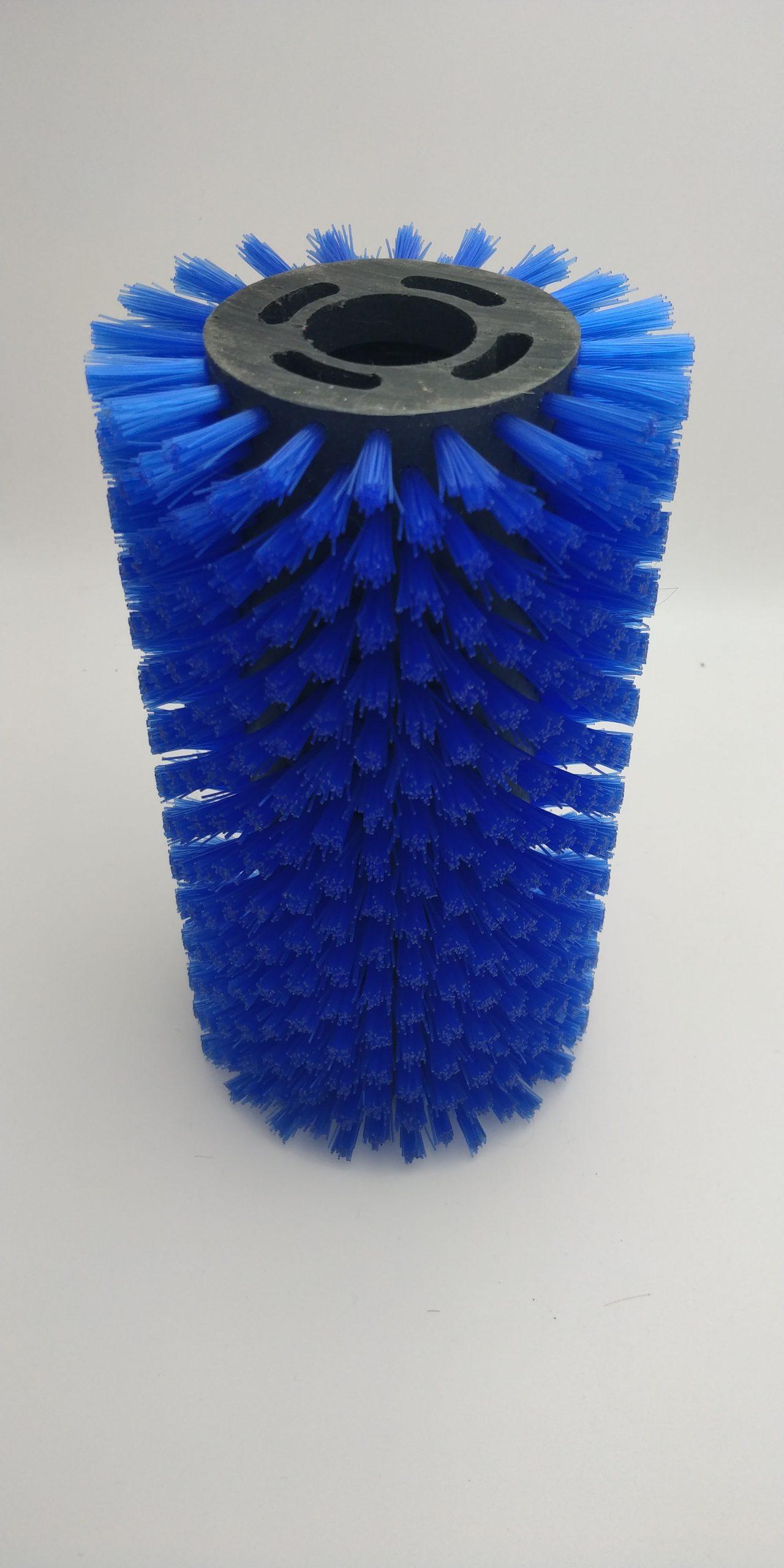 Cepillo cilíndrico fibra azul industria alimentaria