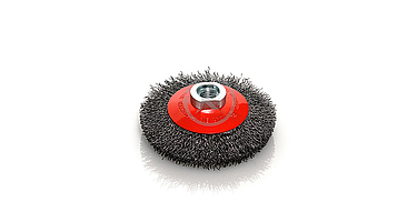 cepillo circular con eje semi copa acero