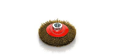 cepillo circular con eje latón