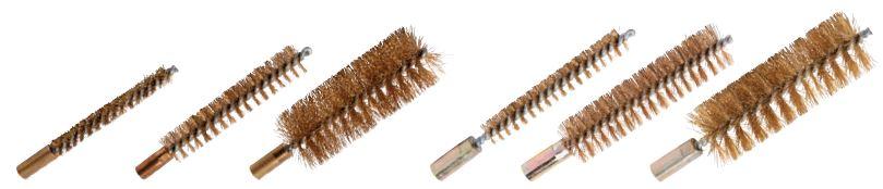 cepillo limpia interior tubo latón con rosca