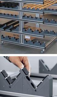 placas de cepillo para proteger barras almacenadas