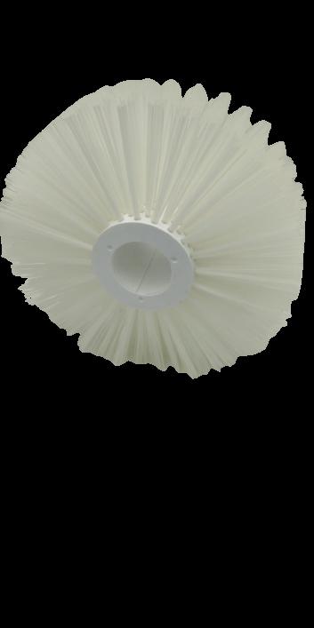 cepillo cilindrico modular multieje blanco