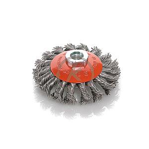 cepillo conico acero trenzado