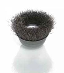 cepillo taza alambre acero ondulado