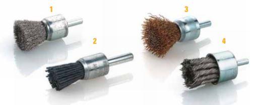 cepillos brocha con espiga