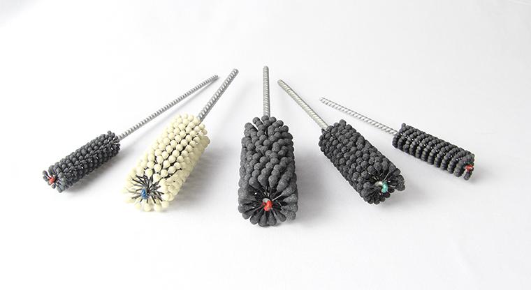cepillos flexibles para bruñido